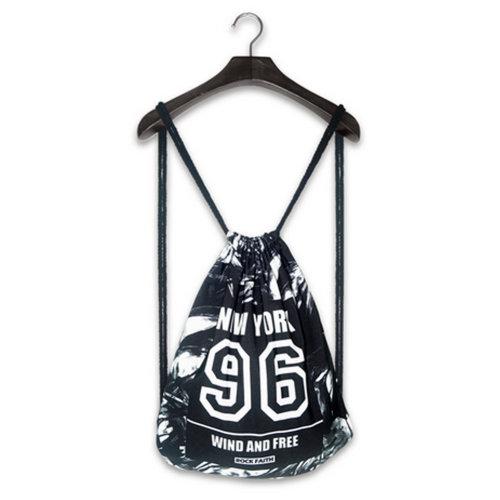 Fashion Street Harajuku Style Drawstring Backpack Travel Sports Adjustable Bag J