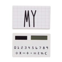 Creative Mini Solar Card Calculator Child Count Toy/Office Supplies,B8