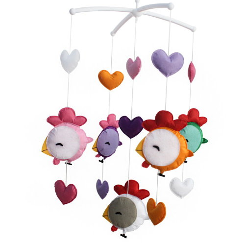 Colorful Hanging Toys, Exquisite Musical Baby Mobile for Crib [Chick]