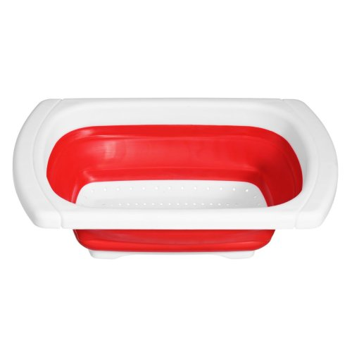 Zing Over Sink Drainer - Red/White