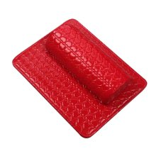 Nail Art Arm Rest Holder PU Leather Soft Hand Cushion Pillow & Pad Rest Red