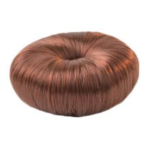 Ladies  Long Hair Tool Hair Bun Maker Round Bun Donut, Red Coffee