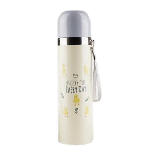 Cute Cartoon Portable Leak Proof Stainless Steel Travel Vacuum Insulated Water Bottle 500ml #8