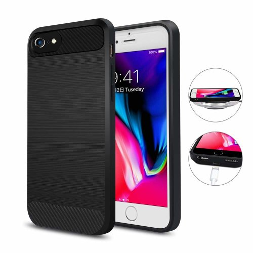 timeless design 0459e 94ba0 ANGELIOX Wireless Charging Receiver Case,Qi Wireless Charger Phone Case  Back Cover with Charging Port Support Wired Charging for iPhone 7/6 /6S...