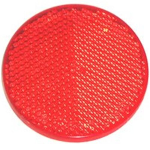 United States Hardware RV-657C 2 in. Red Reflector