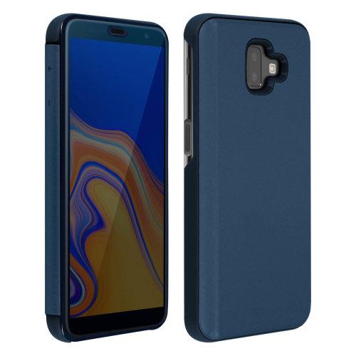 watch 0c266 41b6a Flip Case Mirror Case for Samsung Galaxy J6 Plus Standing Cover - Blue