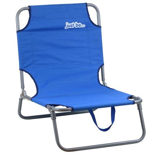 just be...® Beach & Garden Folding Sun Chair Lounger - Dark Blue