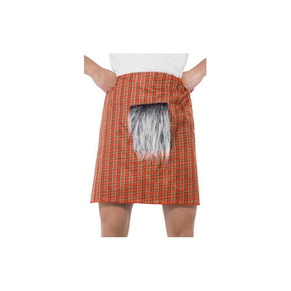 6bd461625c907 Red Tartan Kilt + Sporran Mens Fancy Dress Scottish Adults Costume  Accessory - kilt tartan fancy. >