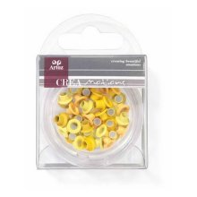 Assorted Yellow 5mm Eyelets By Artoz