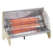 Team 1150w Classic Electric Silent 2 Bar Radiant Portable Heater
