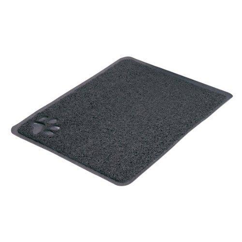 Trixie Cat Litter Tray Mat, 37 × 45 Cm, Anthracite - Matcm -  litter cat tray mat trixie 37 45 cm anthracite