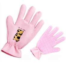 Pet Grooming Glove Left Pet Glove Hair Removal Pink