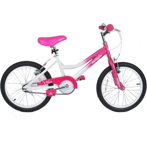 """Muddyfox Vibe 18"""" Girls BMX Style Bike in White and Pink"""
