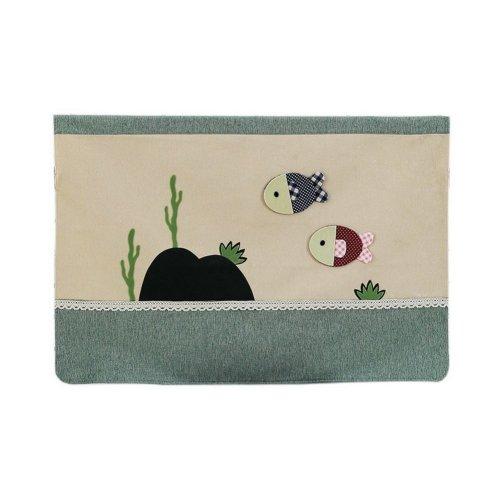 Home Creative 50-Inch TV Cloth Decorative Dustproof Cover, Small Fish
