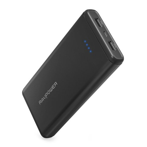 RAVPower Power Pack 20000mAh USB Portable Charger with Dual iSmart 2.0 USB Ports, 3.4A Max Output, 2.4A Input USB Battery Pack for iPhone XS/XS...