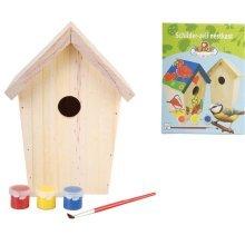 Esschert Design DIY Nesting Box with Paint 14.8x11.7x20 cm KG145