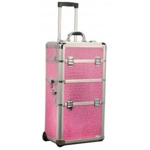 TZ Case AB-308T ROG Wheeled Beauty Organizer, Rose Gold