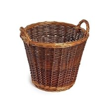 Small Unpeeled Wicker Log Basket
