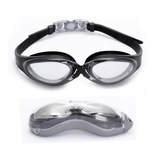 b3a95064e4fe Bezzee-Pro Swimming Goggles UV protected Adjustable Silicone Straps Swim  Goggle for Men Women Adults with Protective Case on OnBuy