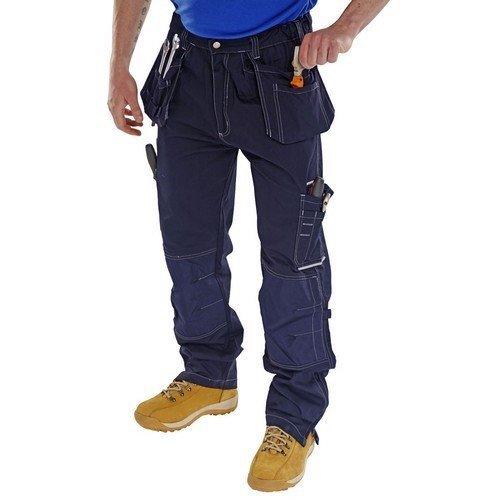 "Click SMPTN30 Shawbury Multi Pocket Work Trousers Navy Blue 30"" Regular"