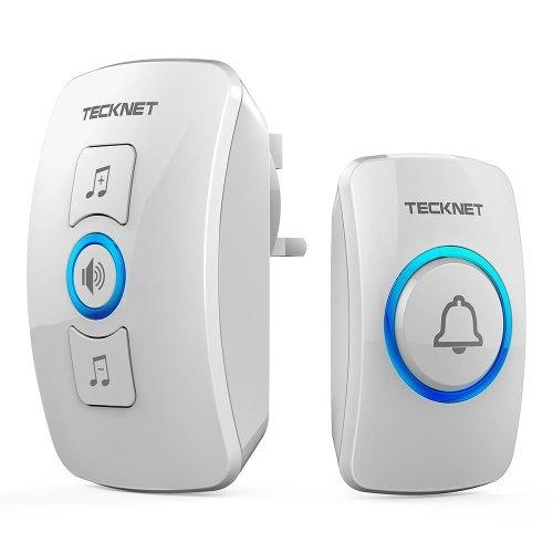 Wireless Doorbell, TeckNet Wall Plug-in Cordless Door Chime