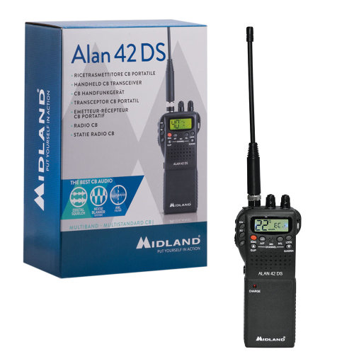 Midland Alan 42 DS Portable CB Radio with Squelch Digital Automaton Code C1267