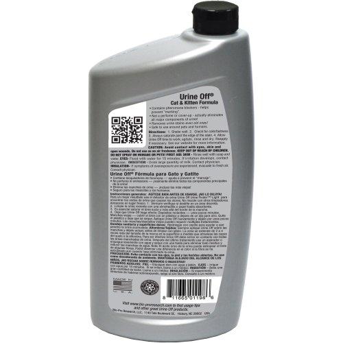 Urine Off Cat & Kitten Formula W/Carpet Applicator Cap 32oz-