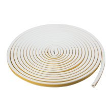 TRIXES 5M White Window Seal Draft Excluding Self Adhesive Sealing Strip D Shaped