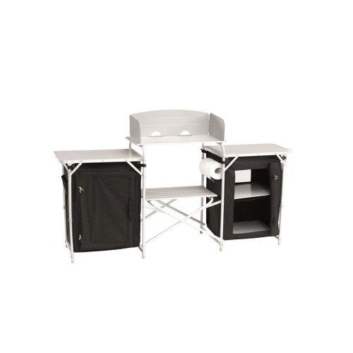 Outwell Camrose Kitchen Table With Magnetic Doors Black