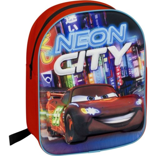 Cars Back To School Bag Backpack Rucksack 3D Effect For Childrens Kids - Red