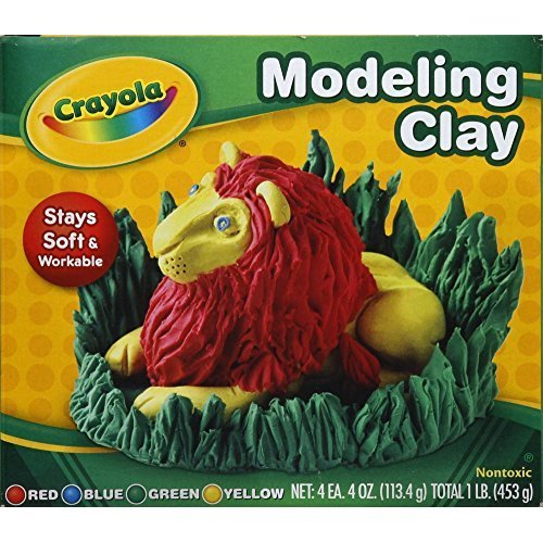 Crayola 57-0300 Assorted Colors Modeling Clay 4 Count (Pack of 2)