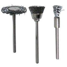 Pack Of 3 Rotacraft Assorted Steel Brushes -  srbu2700 modelcraft 3 assorted steel brushes