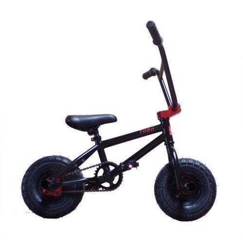 "Limited Edition 1080 Kids Stunt Freestyle 10"" Wheel Mini BMX Bike Black & Red"