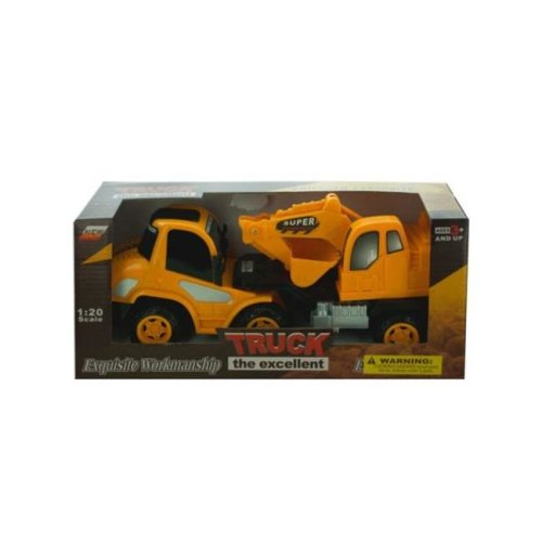 Kole Imports KL252-8 11.5 x 3.5 in. Friction Powered Toy Construction Truck, Pack of 8