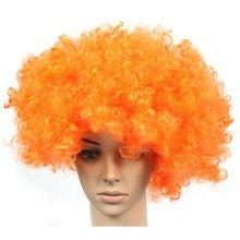 Set of 2 Halloween Costume Party Wigs Clown Hair, Orange