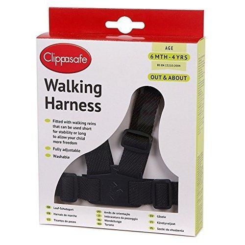 Clippasafe Harness/reins Nylon - Black