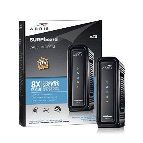 ARRIS SURFboard SB6141 DOCSIS 3 0 Cable Modem Retail Packaging Black