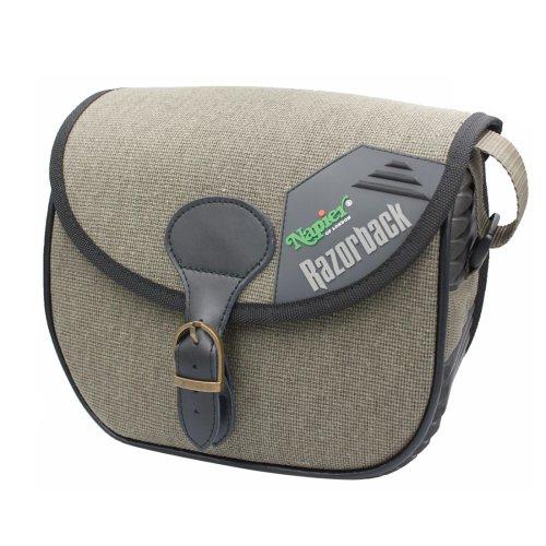 Napier Razorback Waterproof Canvas Cartridge bag 120 capacity - brass fittings