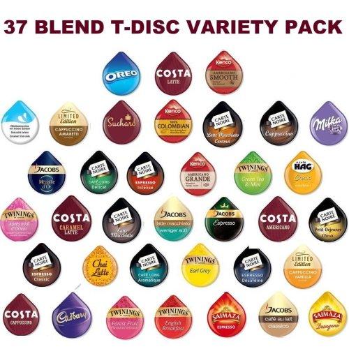 TASSIMO T-disc / Capsules, 37 FLAVOURS (46 T-discs)