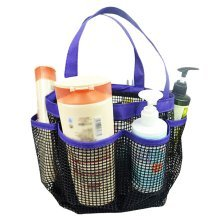 Outdoor Quick Dry Mesh Shower Accessories Tote With Double Handles-Purple