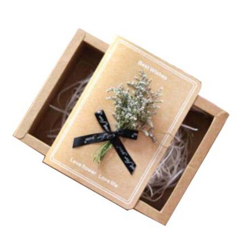 Handmade Dried Flowers Thank You Cards For Bridal & Baby Shower & More