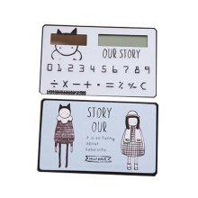Creative Mini Solar Card Calculator Child Count Toy/Office Supplies,B4