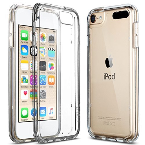 ULAK iPod Touch 6 5 Case CLEAR SLIM High Quality Soft TPU Bumper Case Shockproof Cover for 6th Generation 2015 Released Clear