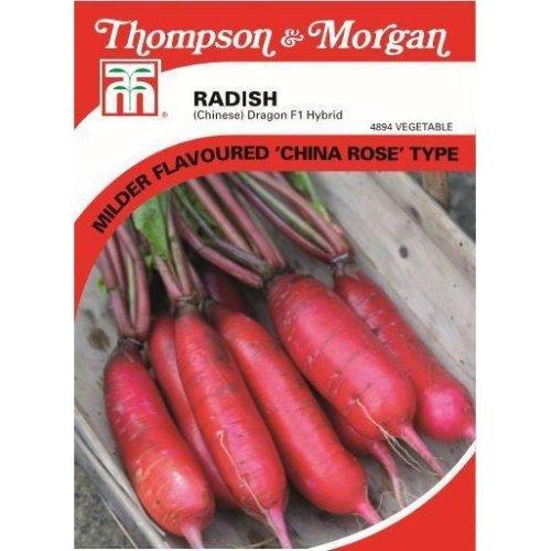 Thompson & Morgan - Vegetables - Radish (Chinese) Dragon F1 Hybrid - 80 Seed