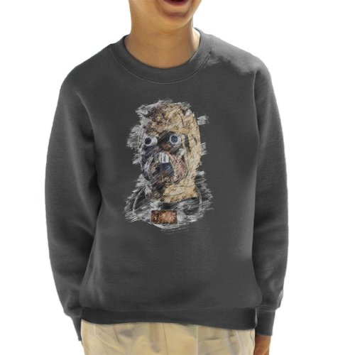 Original Stormtrooper Tusken Raider Mask Sketch Kid's Sweatshirt