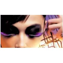 Stage Performances Eyelashes, Lengthened By the End of Eye Purple+Black 5 Pairs
