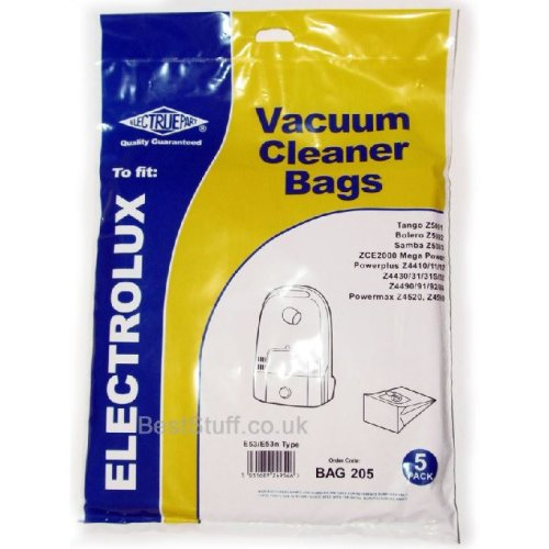 Electruepart BAG 205 pack of 5 Bags to fit Electrolux Cylinder Vacuums