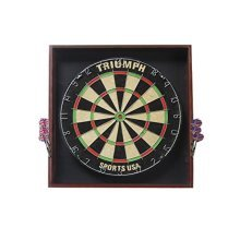 Triumph Sports Deluxe Bristle Dartboard with Backboard Wall Protector