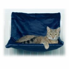 Trixie 4321 De Luxe Lounging Hammock Plush 45 x 24 x 31cm Off White - New Cats -  new cats cosy radiator bed hammock kitten kittens trixie sun dump