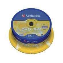 Verbatim DVD+RW Matt Silver 4.7GB DVD+RW 25pc(s)